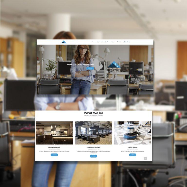 Web Design cleaning creative maja