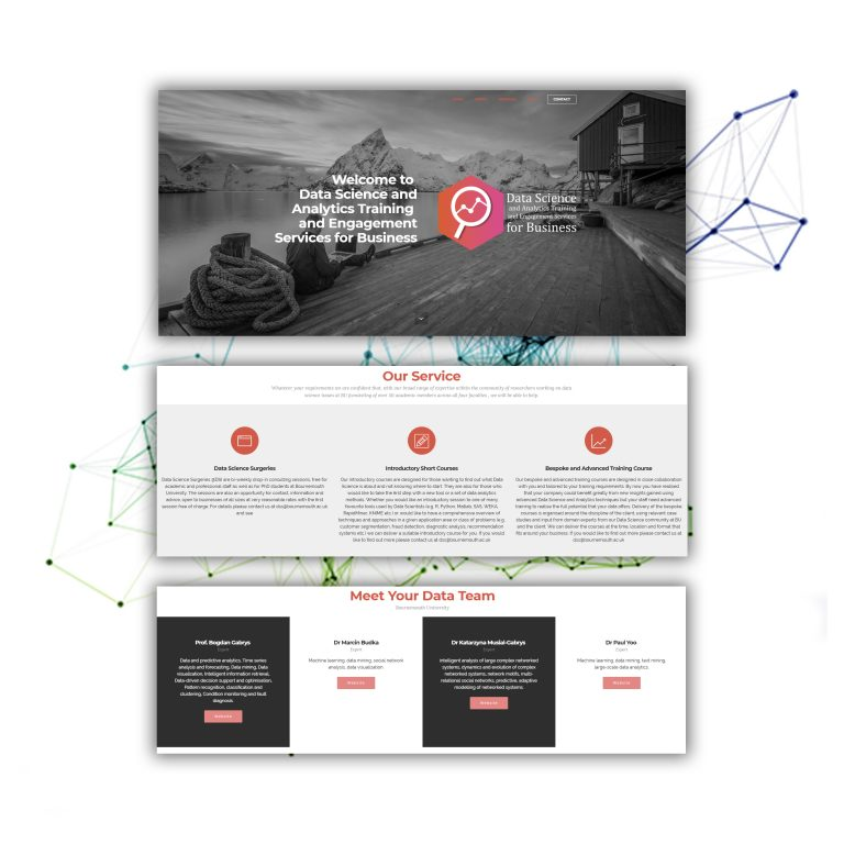 Web Design data science initiative Bournemouth University